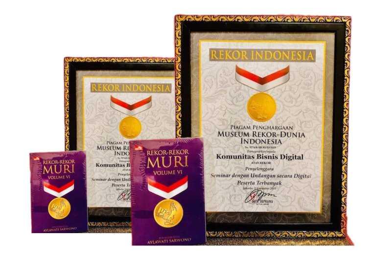 Penghargaan muri seminar bisnis digital